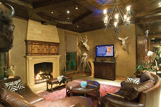 Man Cave Ideas For The Outdoorsman : Fantastic family room decorating ideas