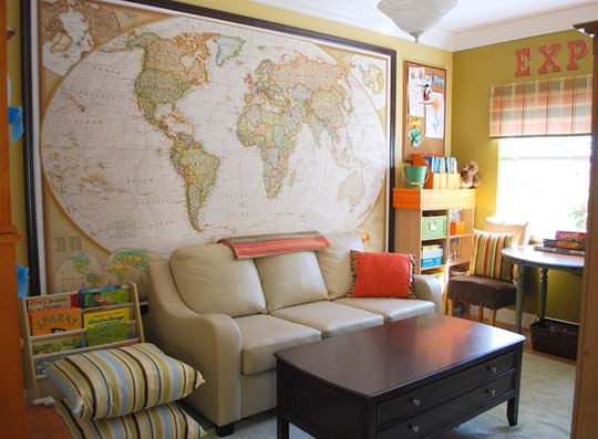Colorful Organized Family Room YHL On Design Sponge