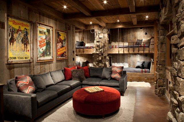 rustic family room - Family Room Decorating Ideas